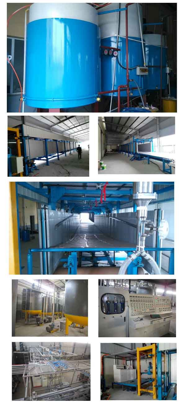 Automatic soft polyurethane foam (foam) production line